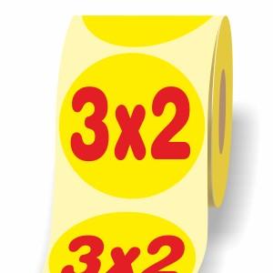 """Etichette Adesive """"3x2"""""""
