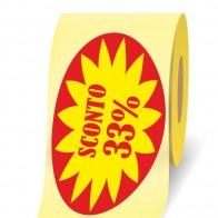 Sconto 33% etichette adesive in bobine