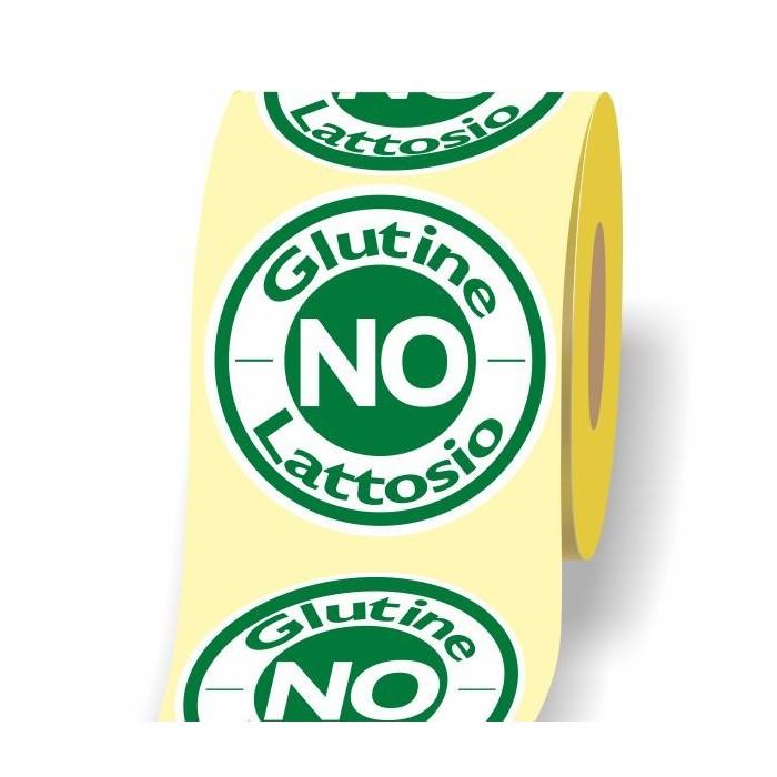 No Glutine Lattosio 3d etichetta adesiva in bobina