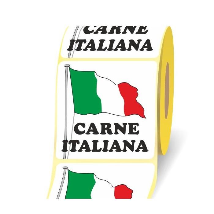 Carne Italiana 40 x 40 3d etichetta adesiva in bobina