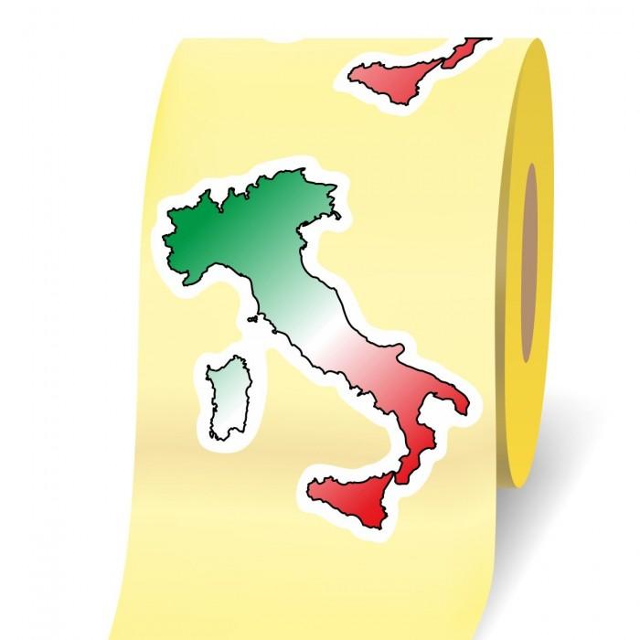 Italia 3d etichetta adesiva in bobina