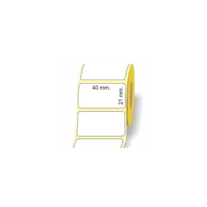Etichette adesive in bobina 40 x 21 mm. 3d carta termica diretta