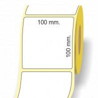 Etichette adesive in bobina 100 x 100 mm. 3d carta termica diretta