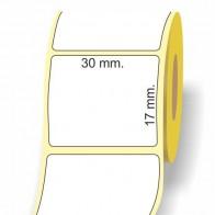 Etichette adesive in bobina 30 x 17 mm. 3d carta vellum