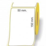 Etichette adesive in bobina 50 x 150 mm. 3d carta vellum