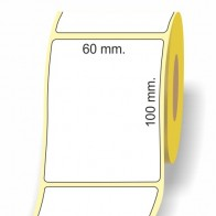 Etichette adesive in bobina 60 x 100 mm. 3d carta vellum