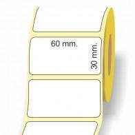 Etichette adesive in bobina 60 x 30 mm. 3d carta vellum