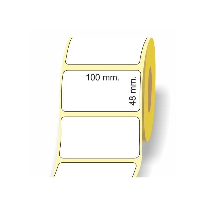 Etichette adesive in bobina 100 x 48 mm. 3d carta vellum