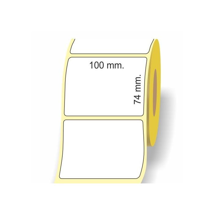Etichette adesive in bobina 100 x 74 mm. 3d carta vellum