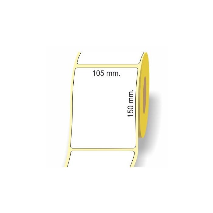 Etichette adesive in bobina 105 x 150 mm. 3d carta vellum