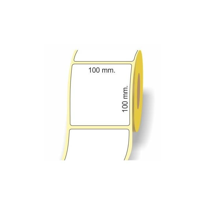 Etichette adesive in bobina 100 x 100 mm. 3d carta vellum