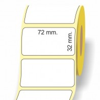 Etichette adesive in bobina 72 x 32 mm. 3d carta termica diretta