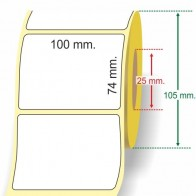 Etichetta Adesiva Vellum 100 x 74 mm. anima 25 mm.