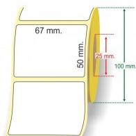 Termica Diretta 67 x 50 mm.