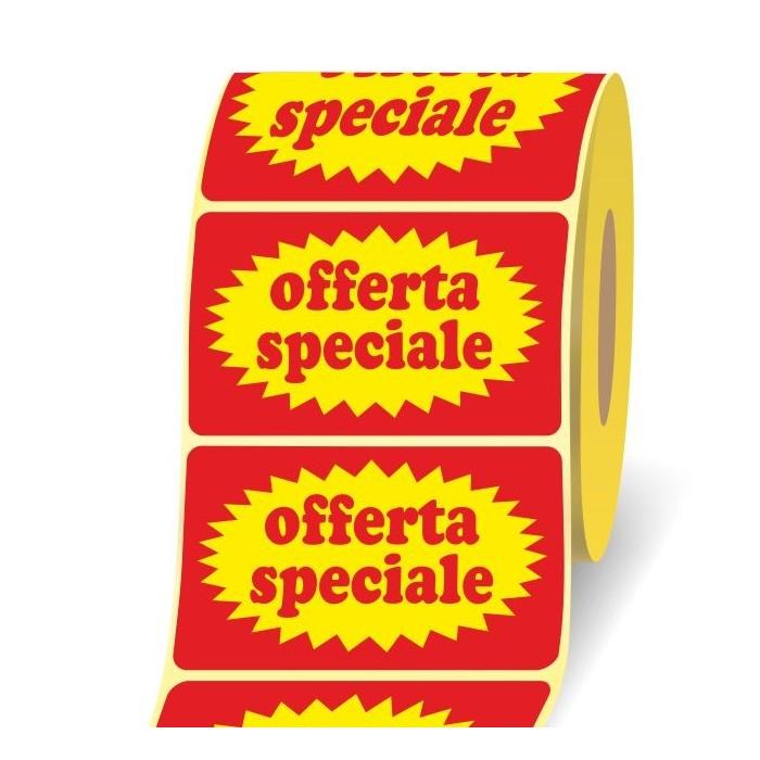 Etichette Adesive Offerta Speciale