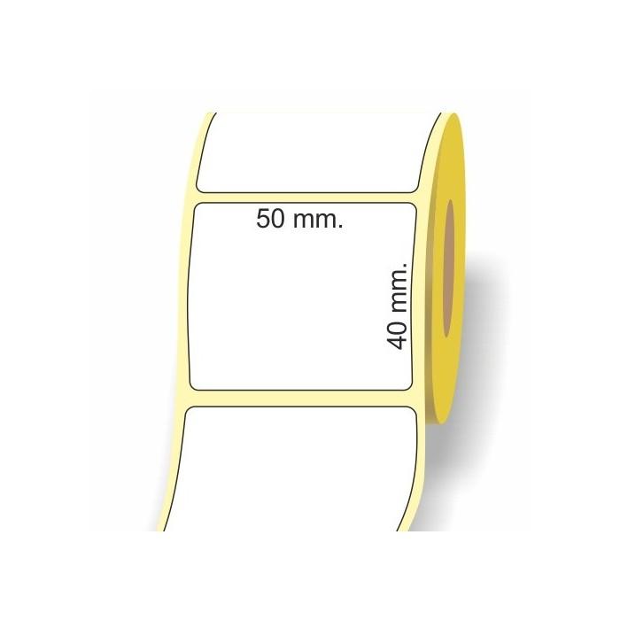 Etichette adesive in bobina 50 x 40 mm. 3d carta vellum