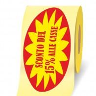 Sconto del 15% alle casse 3d a bobina etichette adesive