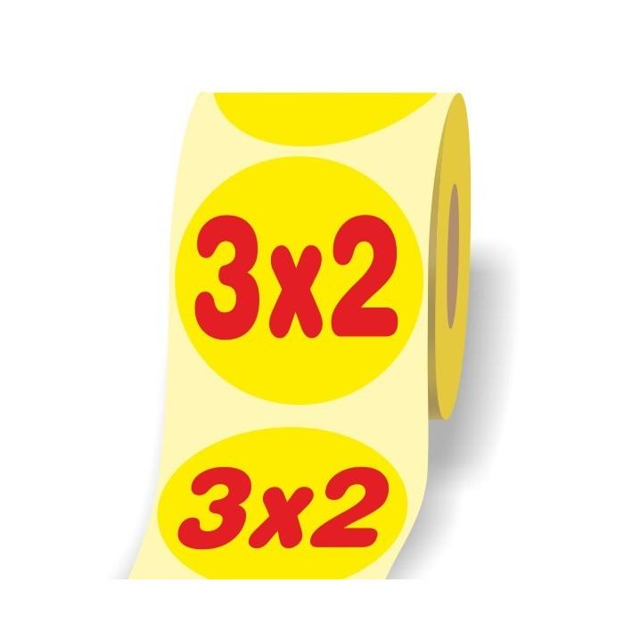 Etichetta Offerta 3x2 D3