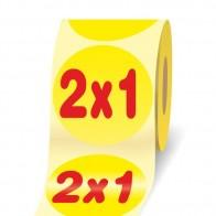 Offerta 2 x 1 etichette adesive in bobine