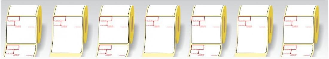 Etichette adesive Peso Prezzo in carta termica diretta